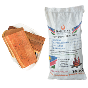 namibian hardwood big logs braai wood