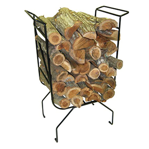 namibian hardwood fireplace log stand