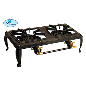 namibian hardwood double gas boiling table
